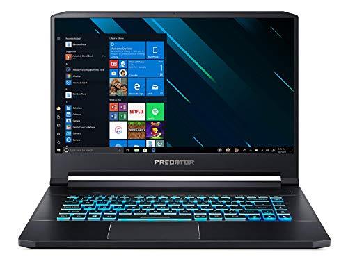 Notebook Predator, Acer, Triton 500, GPU NVIDIA GeForce RTX 2080-8 GB GDDR6 CPU Intel Core i7-8750H - Hexa Core - 8ª Geração 15'6 IPS FHD 144Hz 512 GB SSD PCI, Preto, Pequeno