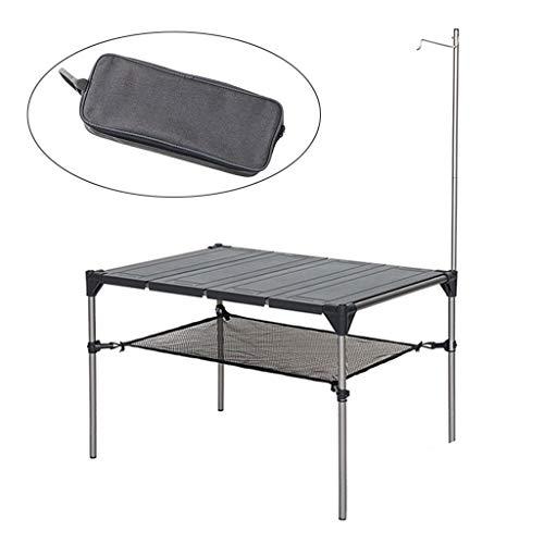 Table se pliante en aluminium compact pliable de table de camping portative légère avec porter pour le pique-nique s'élevant extérieur intérieur de pique-nique, BBQ, plage, randonnée pédestre, voyage,