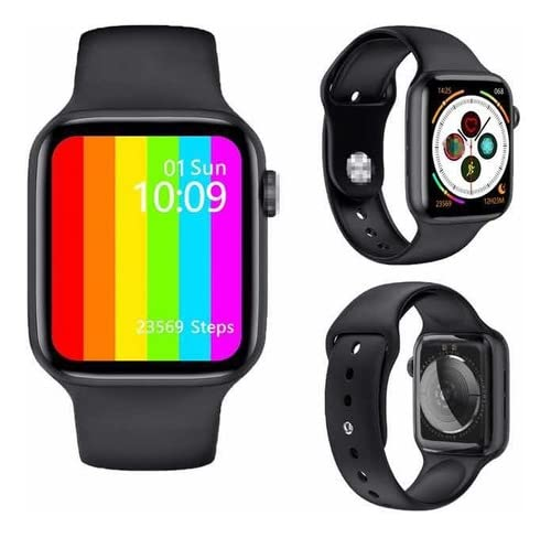 "Relógio Smartwatch IWO 12 Lite W26 Tela Infinita HD 1.75"" Preto Troca Pulseiras"