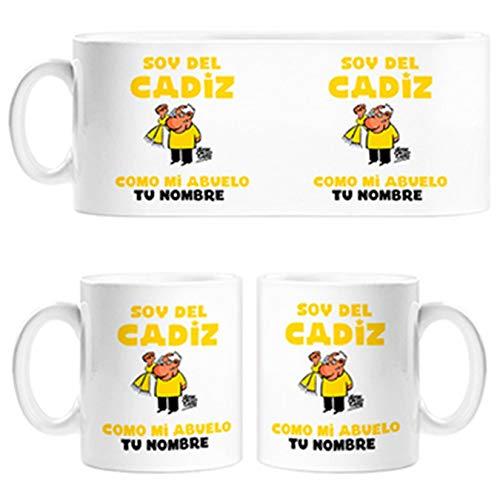 Diver Tazas Taza Soy del Cádiz como mi Abuelo Personalizable con Nombre - Cerámica