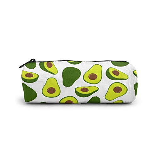 Cylinder Cosmetic Bag Seamless Pattern Fresh Avocado Pencil Case Small