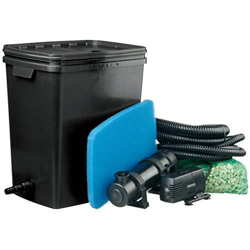 Ubbink Kit de Filtre Filtration pour Bassin de Jardin Étang Noir PEHD Maison