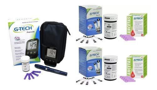 Medidor De Glicose G-tech Lite + 100 Tiras + 100 Lancetas