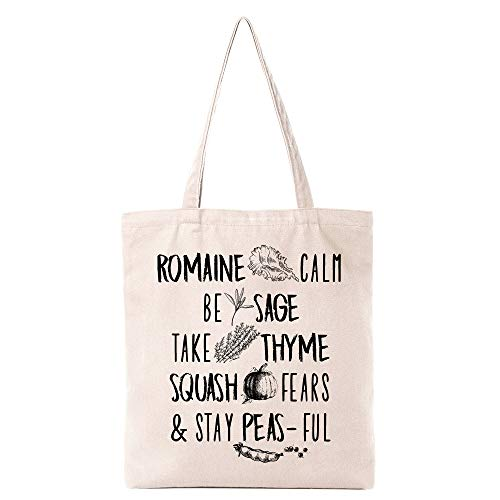 Cute Vegetables Tote Bag for Women Wife Mom | Funny Food Natural Cotton Canvas Reusable Tote Bag | Cute Eco-Friendly Shopping Bag Shoulder Bag Grocery Bag Gifts for Best Friends