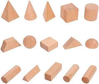 Wooden Geometric Solids,Exercise your baby's brain Intellectual Development Ability,Montessori Geometric shape building bl...