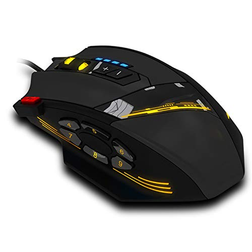 Reliable hotselling Gaming Mouse Programmable Buttons LED Optical USB Gaming Mouse Mice 4000 DPI
