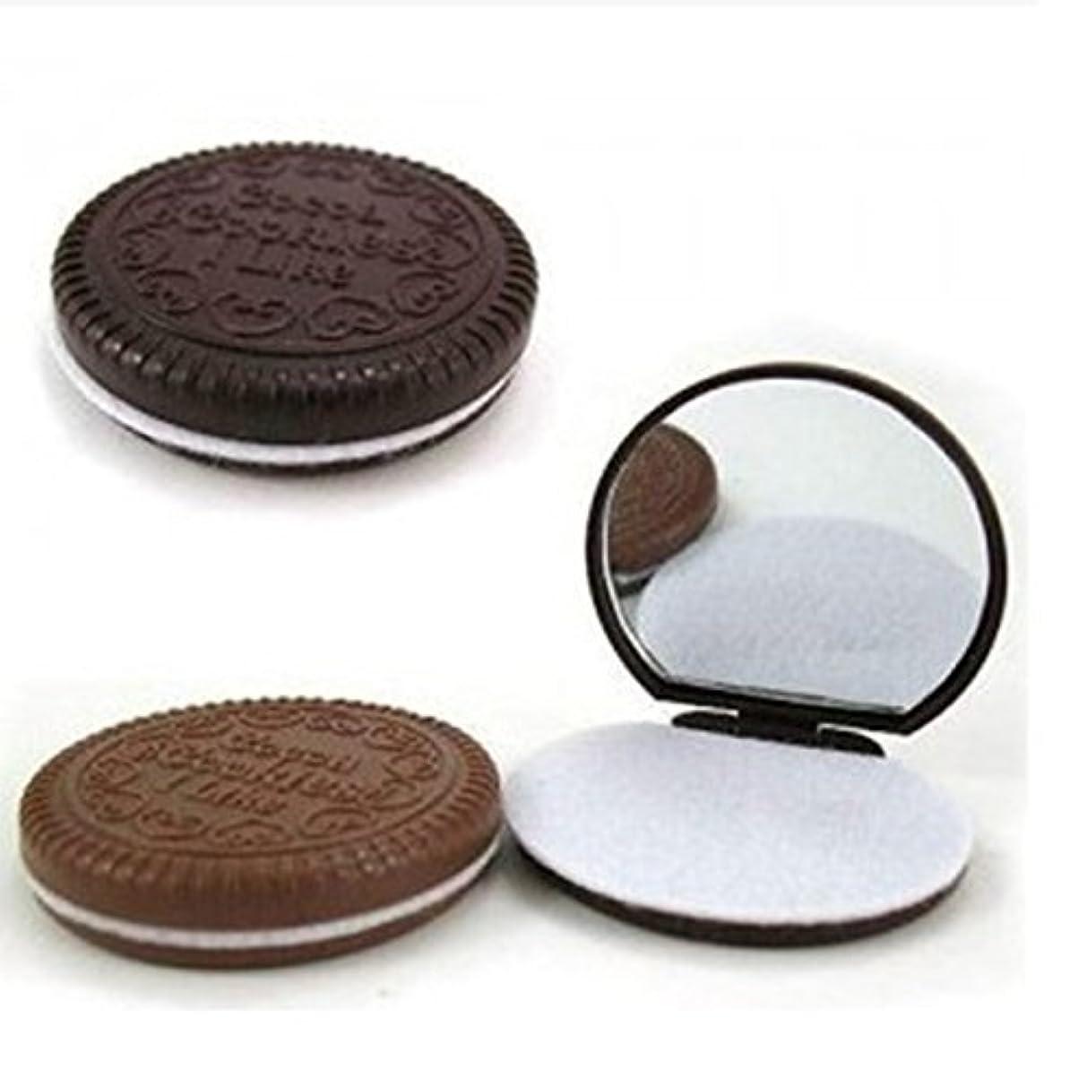撤退ミリメーター石油3 Pcs Cute Chocolate Makeup Mirror With Comb Women Hand Pocket Compact Makeup Tools Great Gift [並行輸入品]