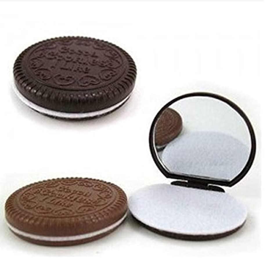 補助マットレス入場料3 Pcs Cute Chocolate Makeup Mirror With Comb Women Hand Pocket Compact Makeup Tools Great Gift [並行輸入品]