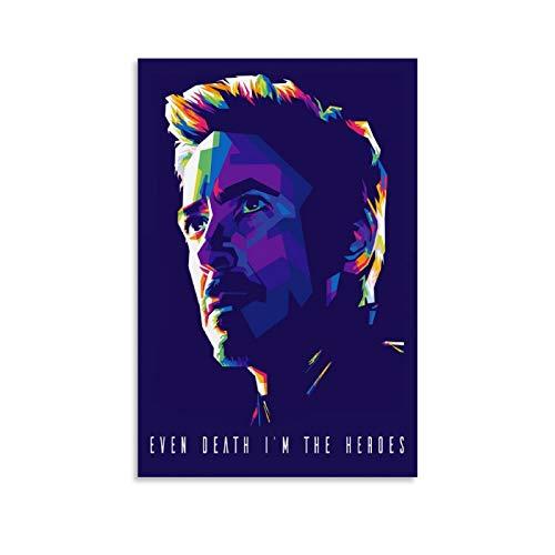 TOUKUI Robert Downey Jr Iron Man Poster dekorative Malerei Leinwand Wandkunst Wohnzimmer Poster Schlafzimmer Malerei 16x24inch(40x60cm)
