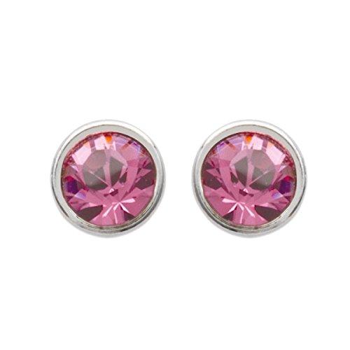 Ohrringe silber Damen–Durchm: für 3D-Drucker–Silber 925/000-cristal (Chip/rund)