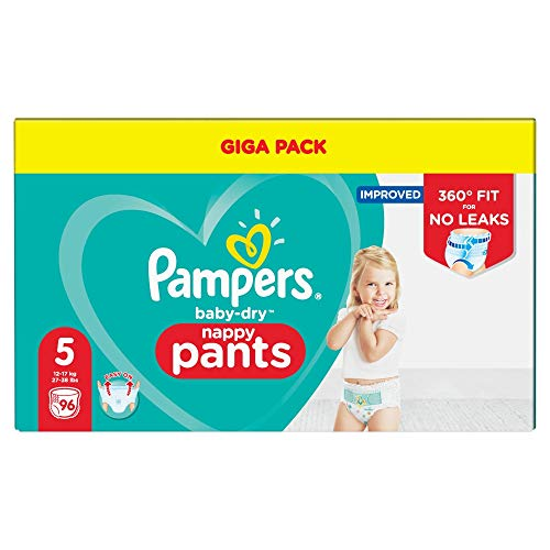 Pampers 81681814 - Baby-dry pants pantalones, unisex