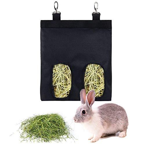 Prom-note Heutasche Heu-Futterspender Heuraufe Für Kaninchen Aufbewahrung Von Meerschweinchen-Hay Feeder, Hängendes Fütterungsheu Für Kleintiere, 600D Oxford-Stoff, 22 × 18,5 cm