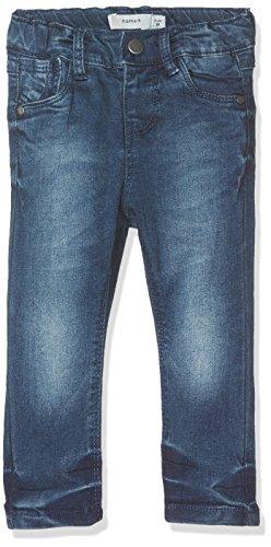 Name It Nittittina xxsl DNM Pant Mini Noos Jeans, Gris (Dark Blue Denim), 104 Bébé Fille