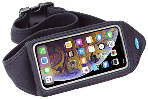 Tune Belt Running Waist Pack for iPhone 11 Pro, X Xs, SE (2020), Galaxy S8 S9 S10 S10e, Note 10 (Black)