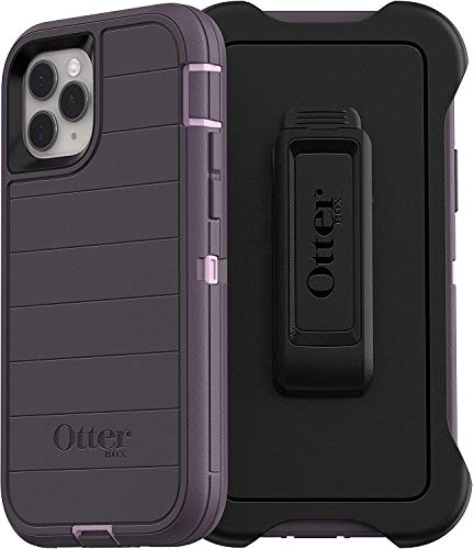 OtterBox Defender Screenless Series Rugged Case & Holster for iPhone 11 PRO MAX (ONLY) Retail Packaging - Purple Nebula (with Microbial Defense)