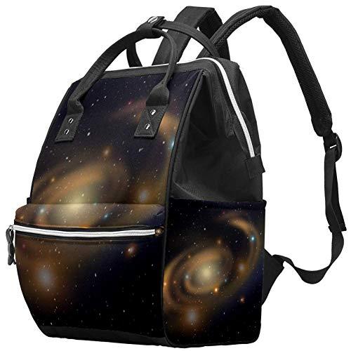 Grand sac à langer multifonction pour bébé, sac à dos, sac à dos, sac à dos, sac à dos pour maman et papa, Galaxy Star