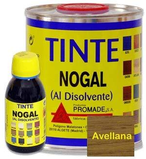 Promade - Tinte al disolvente para teñir la madera. Tonos de madera y colores vivos y modernos (375 ml, Avellana)
