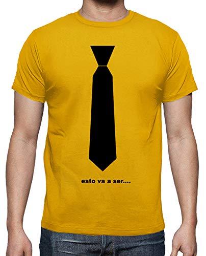 latostadora - Camiseta Corbata Barny Esto Va A para Hombre...