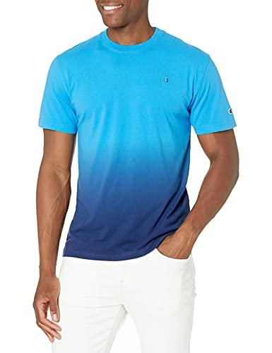 Champion Men's Specialty Tee, Dip Dye Balboa Blue/Athl Navy, X-Large