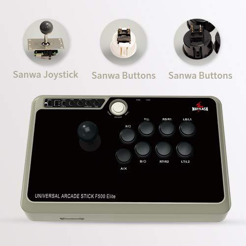 MAYFLASH Arcade Stick F500 Elite with Sanwa Buttons and Sanwa Joysticks for PS4/PS3/Xbox One/Xbox 360/Nintendo Switch/Android/PC Windows/NEOGEO Mini/SEGA MEGA Drive/SEGA Genesis
