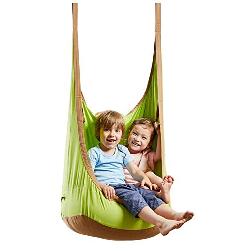N/H Child Pod Hanging Chair Swing Seat, Kid Hammock Chair with Inflatable Cushion, Nook Tent with Cotton Rope and Snap Hook, for Indoor and Outdoor, Bedroom, Balcony