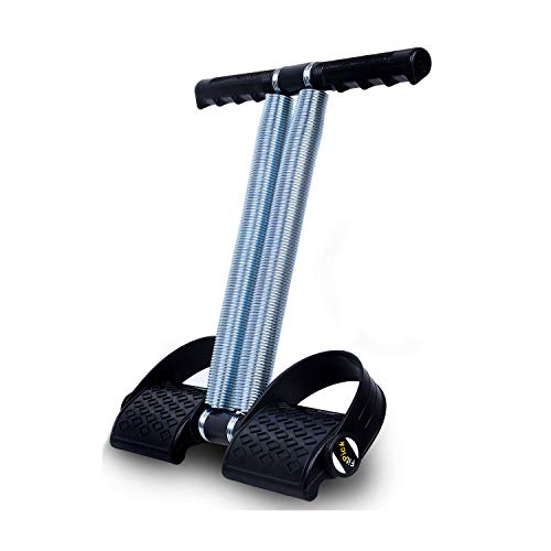FIT PICK Tummy trimmer for Women and Men, Home gym equipment, Workout Equipment   Gym equipment for Home Workout, Exercise for Biceps, Chest, legs, Abdomen (Double Spring - Chrome Steel)