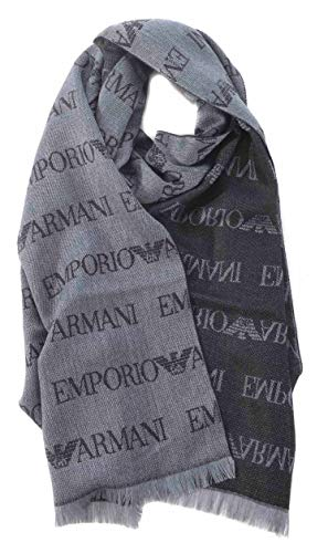 Emporio Armani sciarpa lana uomo grey