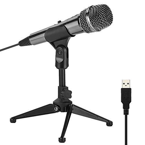 XIAOKOA PC Microfono, Microfono a condensatore per Computer, Registrazione Microfono per Podcasting, chattare Online Come Facebook, MSN, Skype, con Al