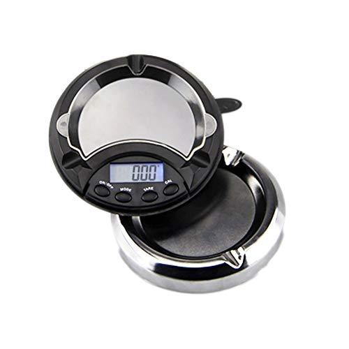 Xinyouluu Elektronische asbak, creatief fashion roestvrij staal ABS Precision elektronische weegschaal, 200G/0,01 G