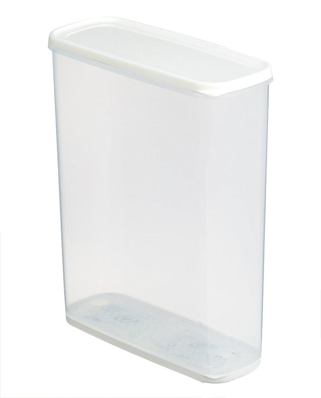 重なる逃すオーバーヘッドイノマタ化学 保存容器 乾物ストッカー 乾燥剤付き ホワイト