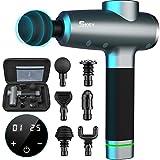 Pistolet de Massage SKEY, Massage Gun avec 1400-3200 rpm, Amplitude de 16 mm, Pistolet de Massage Musculaire avec 6 têtes, 20 vitesses et moteur sans balais silencieux