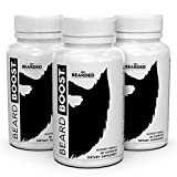 Live Bearded Beard Boost, Beard Growth Vitamins For Men That Increases Growth Rate, Strengthens And Nourishes Your Hair To Give You A Bigger, Thicker, Fuller And Healthier Beard (90 Day Supply)