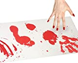 Bloody Bath Mat Triple Halloween Decoration Set Including The Color Changing Bloody Bath Mat and Bleeding Paper