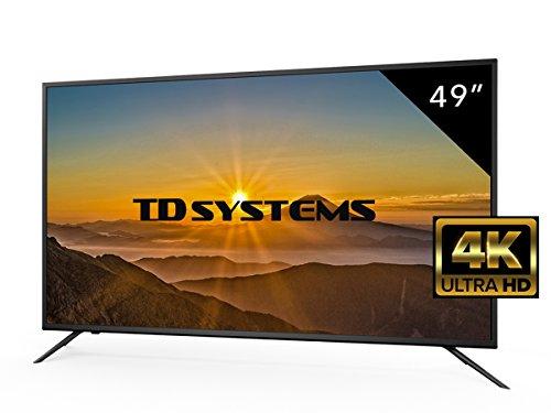 TV 49 Pouces HD LED TD Systems K49DLM8U. Téléviseur Ultra HD 4K, Lecteur et enregistreur USB, 3X HDMI, VGA