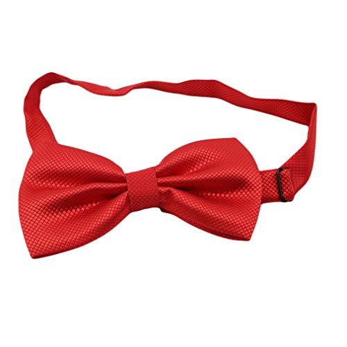 L_shop Bunte Plaid Bowknot Krawatte Bräutigam Männer Krawatte Männliche Ehe Nette Schmetterling Hochzeit Dekoration, Polyester Garn, rot