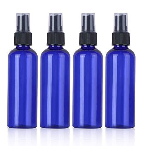 Beeria - 4 flaconi spray da viaggio vuoti, in plastica, 250 ml, colore: Blu