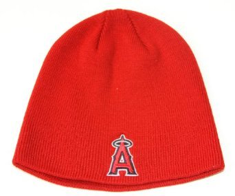 '47 Anaheim Angels of Los Angeles Red Skull Cap - MLB Cuffless Winter Knit Toque Beanie Hat