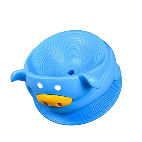 CCSUN Kinder Schwenk-gyro-Stuhl, 360 Grad Rotation Sense Trainingsgeräte Outdoor Indoor Big Gyro Tumbler Sportspielzeug-blau C 100×63×73cm
