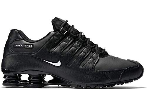 Nike Men's Shox NZ Running Shoe Black/White/Black - 8 D(M) US