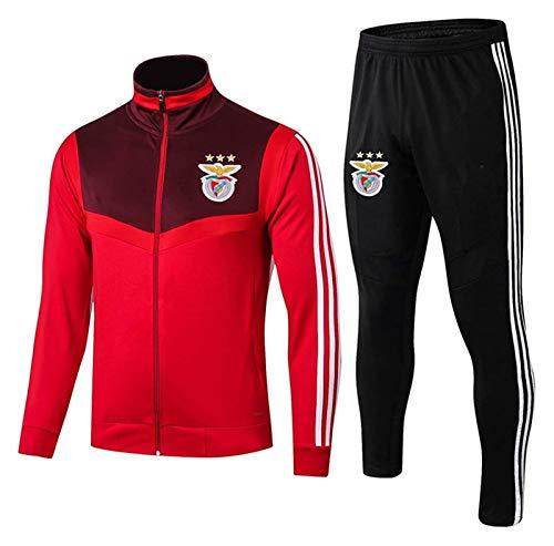 DZHTSWD 19-20 Benfica Fußball Training Uniform Herren Herbst und Winter Anzug Reißverschluss Langarm Jacke (Größe : XL)