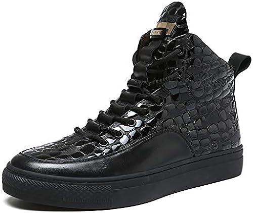 TTRR Herrenschuhe Winter Plus warme Samtschuhe Martin Stiefel Herren High-Top-Baumwolle Schuhe Freizeitschuhe (Größe   38)