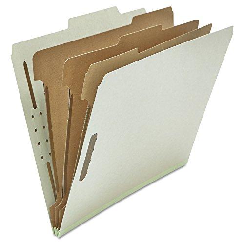Pressboard Classification Folder, Letter, Eight-Section, Gray, 10/Box