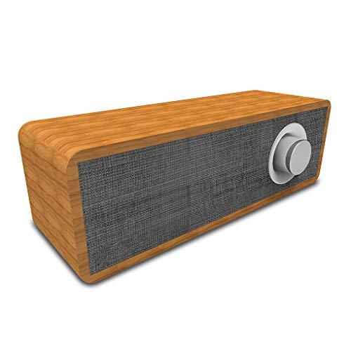 Qinghengyong Portable Wooden Wireless Speaker Bluetooth Wooden portable Bluetooth 4.2 Hifi Speaker Stereo Phone Soundbar MP3 Music Player Loudspeaker grey