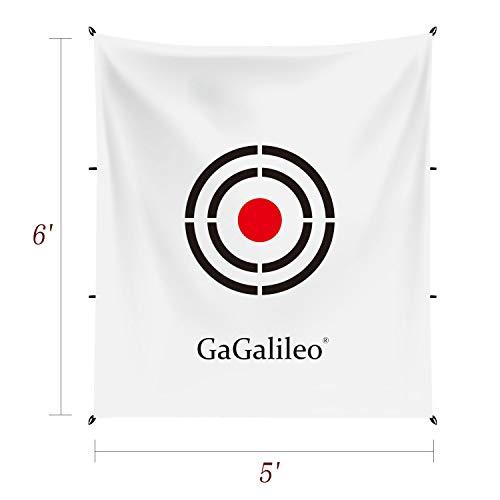 Golf Target 5x6FT Golf Training Aids Practice Backstop Target Backyard Driving PVC Black Circle Style Targets(White