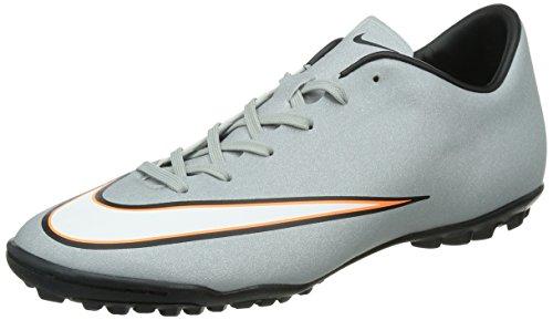 Nike Herren Mercurial Victory V TF CR Fußballschuhe, Grau (Mtllc Silver/Blk-Hypr TRQ-Blk), 44.5 EU