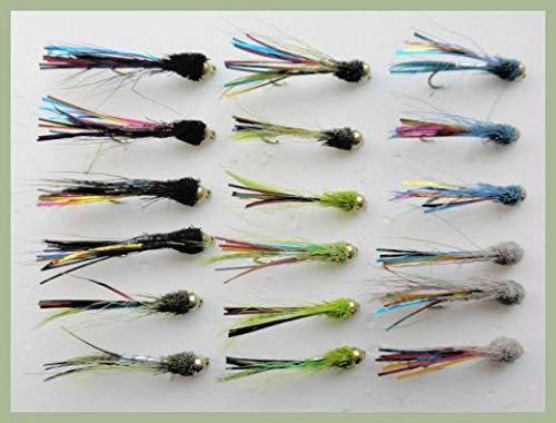 Pesca Mosche pesca a mosca Trota Fly 10//12//14 misti 8 Teal Blue ninfe