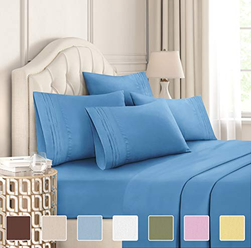 Twin XL Sheet Set  4 Piece Sheets  Dorm Room Bed Sheets  Hotel Luxury Bed Sheets  Extra Soft  Deep Bed Sheets Pockets  Easy Fit  Breathable amp Cooling Touch  Twin XL Sheets for Twin XL Mattress