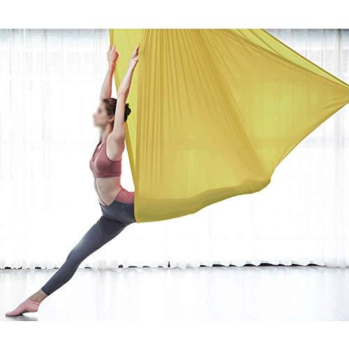 Columpio sensorial Set de swing de yoga aéreo Juego de la hamaca de yoga Kit de la eslinga Antigravedad colgante de yoga Sling Inversión Swing para principiantes y niños Flexibilidad y fuerza central