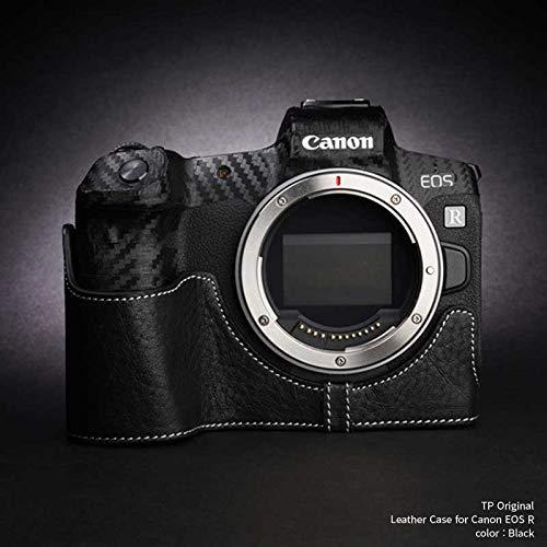 TP Original Leather Camera Body Case for Canon EOS R Black ブラック キャノン キヤノン イオス R 本革 カメラケース レザーケース おしゃれ ミラーレスカメラ デジタルカメラ ケース 速写ケース