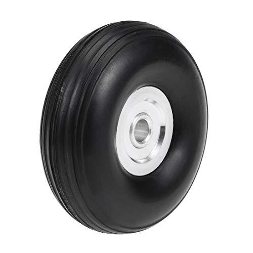 DealMux Juegos de Llantas y Ruedas para avión de Coche RC, llanta de Esponja de PU con Cubo de aleación de Aluminio, 1.5 '